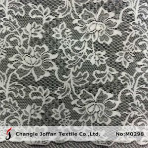 Jacquard Flower Curtain Lace Fabric (M0298) pictures & photos