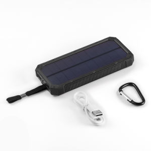 Facyory Orignal 12000mA Dual USB Solar Panel Mobile Power Bank pictures & photos
