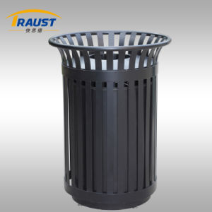 116L Latest Technology Painted Metal Garden Trash Bin pictures & photos