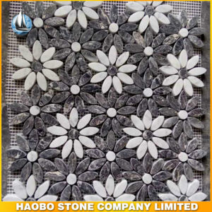 Flower Design Marble Mosaic Wall Mural Art Tiles pictures & photos
