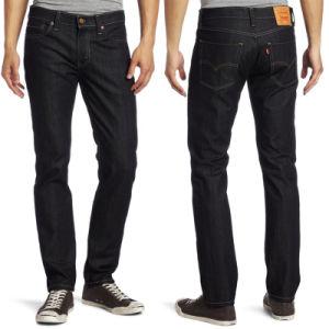 Design Mens Slim Fit Straight Denim Jeans Trousers Cotton Jeans pictures & photos