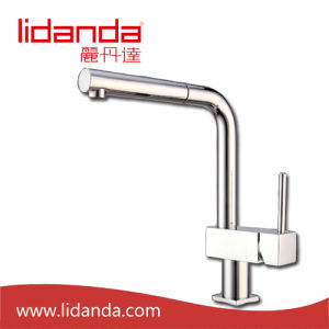 Contemporary Kitchen Faucet with Chrome Finish (Spray Pullout) pictures & photos