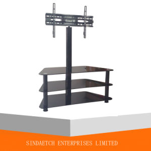 Aluminiuml Tube and Glass TV Stands for Plasma TV, LED, LCD Screen pictures & photos