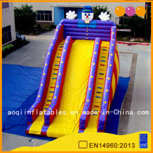 Clown High Slide with Dounble Climbing Wall Bouncing Inflatable Slide for Sale (AQ09130) pictures & photos