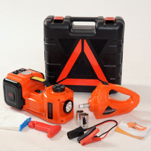 Portable 12V Electric Hydraulic Lift Car Jack with Air Compressor pictures & photos