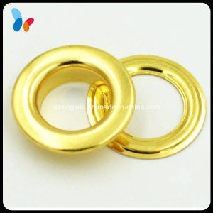 Shining Golden Round Metal Eyelet for Curtain pictures & photos