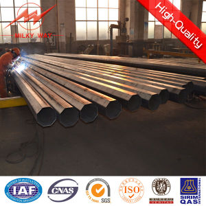 Low Voltage Galvanized Steel Electrical Power Poles pictures & photos