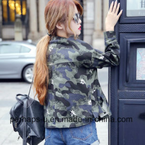 Women Clothes Casual Camouflage Jacket Wholesale pictures & photos