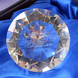 """80mm 3"""" Crystal Diamond Paperweight with Logo Sandblasting Engrave pictures & photos"""
