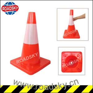 Safety Small Yellow PVC Road Construction Cones for Sale pictures & photos