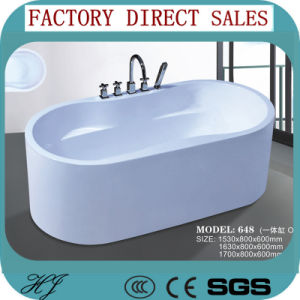 2015 Hotel Square Acrylic One Cylinder Soaking Bath Tub (648) pictures & photos