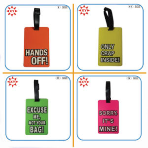 Custom Printing Logo Text Funny Luggage Tag for Trip pictures & photos