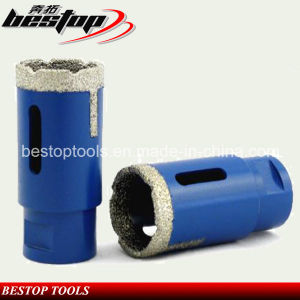 Vacuum Brazed Diamond Core Drill Bits with Side Proection Teeth pictures & photos