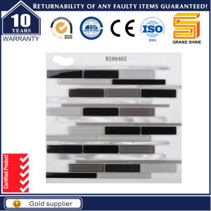 Strip Aluminum Crystal Glass Mosaic GS89405 pictures & photos
