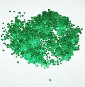 Wholesale Holiday Decoration Green Star Glitter pictures & photos