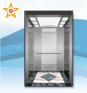 Passenger Elevator with Etching Stainless Steel Decoration pictures & photos