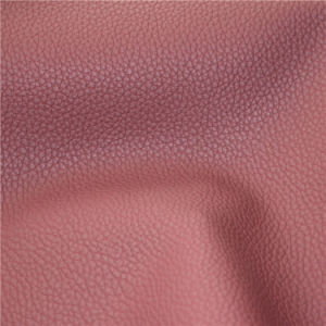 2016 High Performance Lichee Pattern Microfiber Imitation Leather pictures & photos
