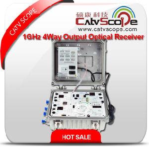Professional Supplier High Performance CATV Hfc Network 1GHz 4way Output Optical Receiver