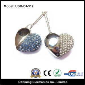 Love Heart Crystal USB Flash Drive (USB-DA317)