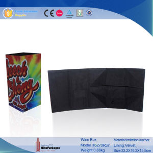 Wholesale Custom Fresh Collection Flexible Foldable Wine Box (5270R30) pictures & photos
