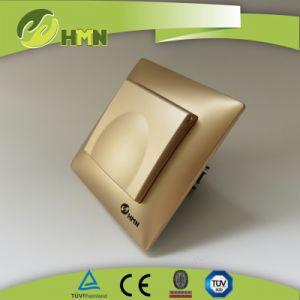 V Series Golden Color Dust Cap Schuko Socket Manufacturer Socket Switch pictures & photos