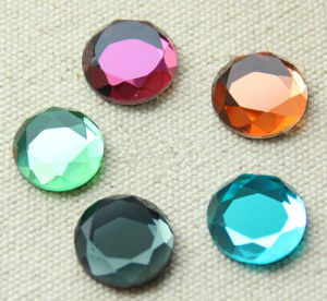 Glass Round Stone Flat Back pictures & photos