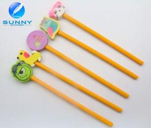 Woonden Pencil with Eraser Set, Pencil Hole Eraser for Promotion, Funny Animal Shape Eraser pictures & photos