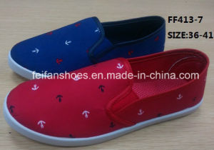 Latest Women Injection Canvas Shoes (FF413-7) pictures & photos