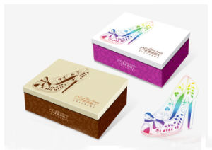 Wholesale High Quality Ragid Paper Shoes Box with Custom Printing pictures & photos
