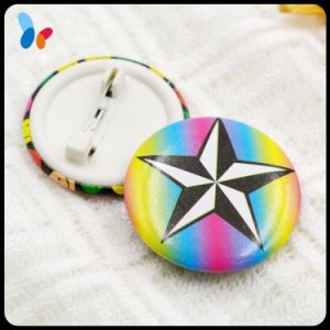 Custom Printed Colorful Star Logo Pin Button Badge for Children pictures & photos