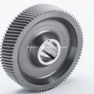 Precision Mild Steel Wide Pitch Wheel Hub Helical Gear pictures & photos