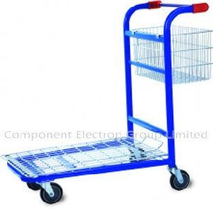 Flat Shopping Trolley Transport Cart Barrow Trolley Cart pictures & photos