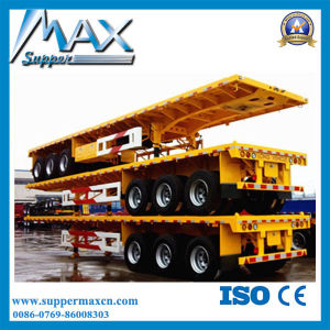 50ton Lowbed Trailer with Three Axles (ZJV9658TD) pictures & photos