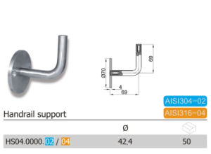 Heavy Quality Stainless Steel Handrail Support (HS04.02/04) pictures & photos