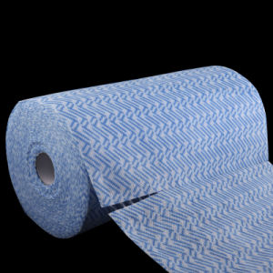 Spunlace Nonwoven Wiping Cloth Roll pictures & photos