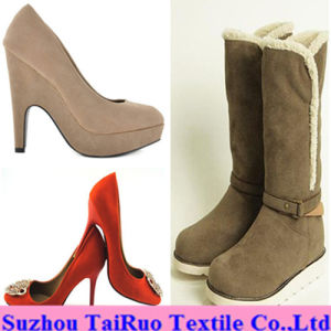 100% Polyester Micro Suede for Lady Shoes Fabric pictures & photos