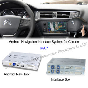 china car android navigation interface box for citroen c4. Black Bedroom Furniture Sets. Home Design Ideas