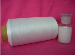 Recycled Dyed Dark Gray Polyester Staple Fiber Yarn