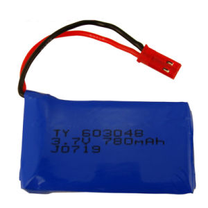 603048 3.7V 780mAh Lipo Batteryfor Wltoys Remote Control Aircraft Lipo Battery Jst Plug pictures & photos