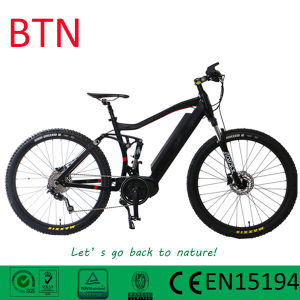 2017 New Design MTB Full Suspension 36V 350W Middle Motor Mountain Electric Bike pictures & photos