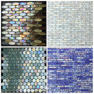Popular Design Pearl Glass Marble Mosaic Tile pictures & photos