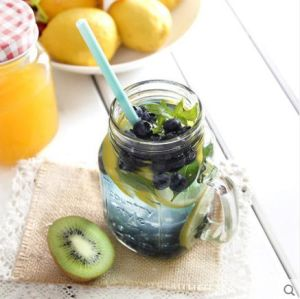 Mason Jar Glass Jam Jar with Handle New Design pictures & photos