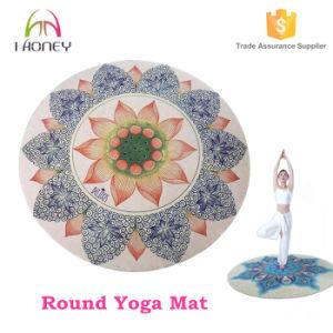 Digital Printed Lotus Printing Round Yoga Mat Beach Round Mat pictures & photos