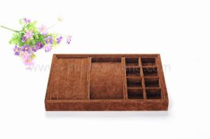 Brown Multiple Function Jewelry Display Tray for Bracelet Necklace Earring pictures & photos
