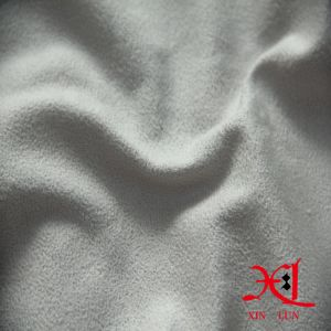 Pure White Polyester Suede Fabric for Garment/Women Dress pictures & photos