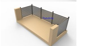 Powder Coated Aluminum Fence pictures & photos