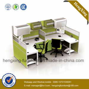 (NS-NW014) Wooden Office Partition 2 Seats Staff Table Workstation pictures & photos