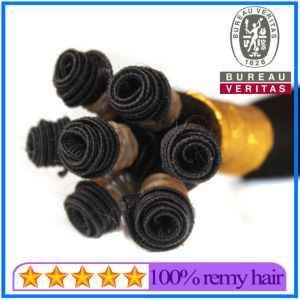 Black Hand-Tied Hair Weft pictures & photos