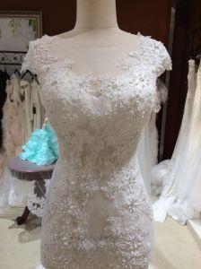 Mermaid Illusion Neckline Wedding Dress with Shawl pictures & photos