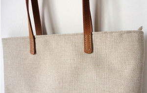 Promotional Jute Tote Bag with Zipper Pocket (BDX-161021) pictures & photos